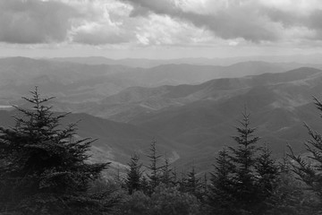 Monochrome View of Great Smoky Mountains