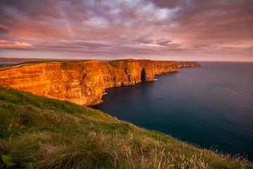 Cliffs of Moher Ireland at sunset in Ireland