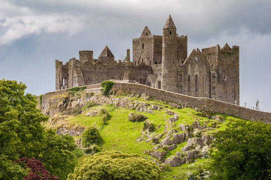 Rock of Cashel, Castle on the hill in Tipperary, Ireland