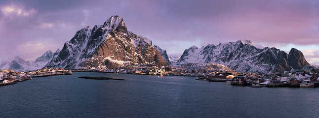 Wall Murals Northern Europe Reine at sunrise