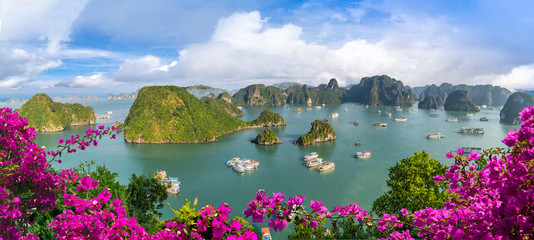Landscape with amazing Halong bay, Vietnam
