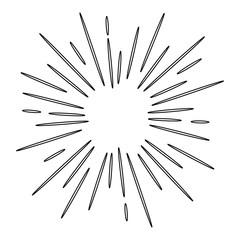 doodle design element, starburst doodle vector illustration ,hand drawn sparkling doodle,water explosion doodle illustration.