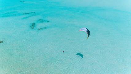 kite surfing at jambiani, Zanzibar