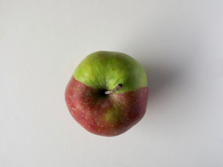 special apple partly colored red and partly green (2)