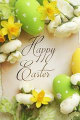 easter eggs frame greeting card