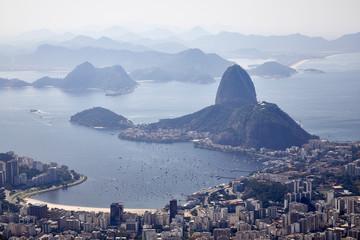 Foto op Plexiglas Rio de Janeiro rio de janeiro aerial view scenic cityscape