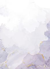 Mauve purple watercolor fluid painting vector design card.