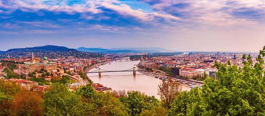 Aluminium Prints Budapest Panorama of Budapest