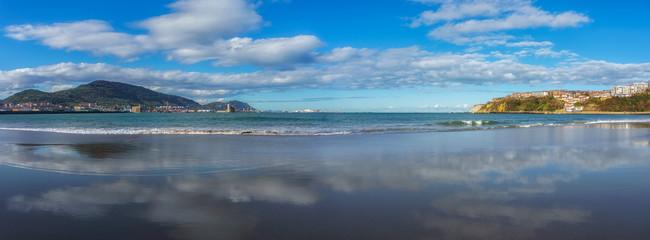Panorama of El Abra from Ereaga beach in Getxo