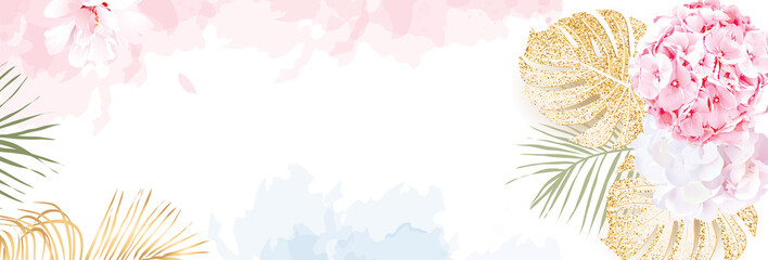 Trendy simple flat lay design vector horizontal background