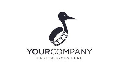 Creative film reel for logo designs vector