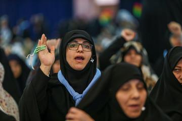 Women attend the Friday prayers in Tehran