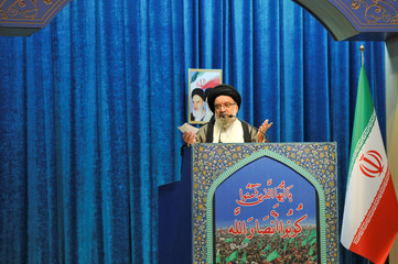Iranian cleric Ayatollah Seyed Ahmad Khatami delivers a sermon during the Friday prayers in Tehran