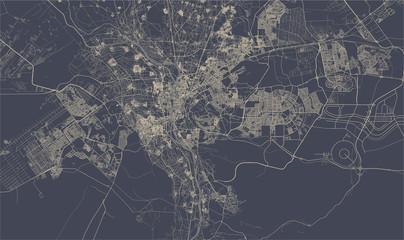 map of the city of Cairo, Giza, Egypt Papier Peint