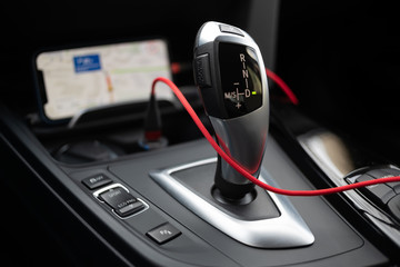 Gearbox lever of modern luxury car
