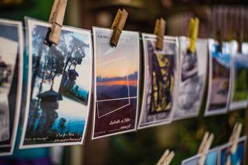 kanchanaburi/Thailand-1 July 2017:Beautiful Postcard in postcard shop Etong village at kanchanaburi city Thailand.Pilok mine The Old mine near the Thai-Myanmar border