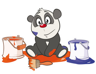 Foto auf Leinwand Babyzimmer Vector Illustration of a Cute Panda. Cartoon Character