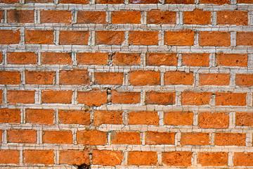 Wall texture of red brick, horizontal