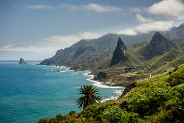 Photo sur Toile Iles Canaries North coast of Tenerife the biggest of Canary Islands