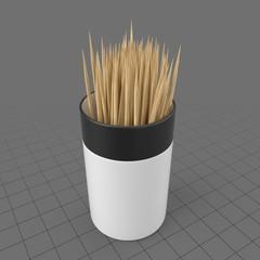 Toothpicks in holder