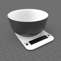 Bowl on kitchen scales
