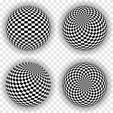 sphere with squares background. abstract vector EPS10.