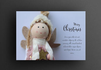 Greeting Card Layout with Angel Doll