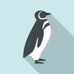 Penguin icon. Flat illustration of penguin vector icon for web design