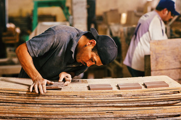 Man working in tile factory