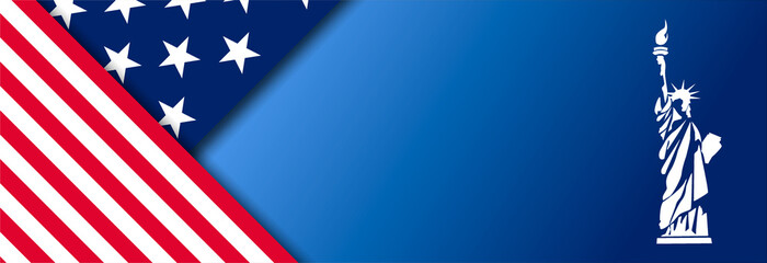 Presidental election banner with USA symbols. Presidental election 2020. Election banner Vote 2020 with Patriotic Stars. Fotomurales