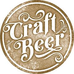 Vintage Style Craft Beer List Sign