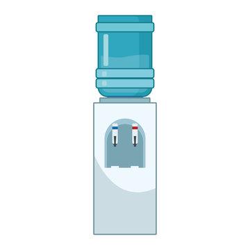 water bottle dispenser icon, flat design