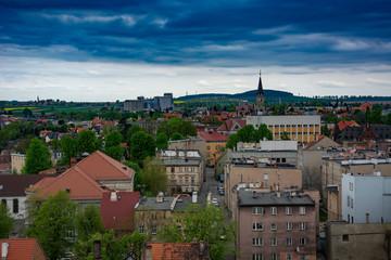 panorama miasta ząbkowice śląskie