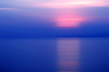 Tuinposter Pier Abstract background motion blur sunset on the sea