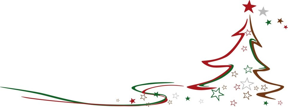 Simplified Christmas background vector illustration