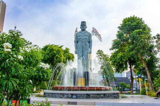 Jendral Soedirman monument in Surabaya