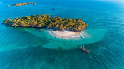 Poster Groen blauw fumba island, zanzibar