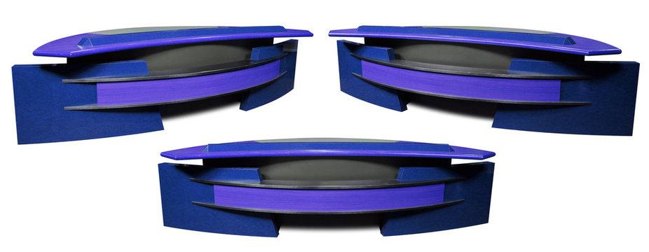 Indigo Sports News Desk 3 Angles Isolated on White Background