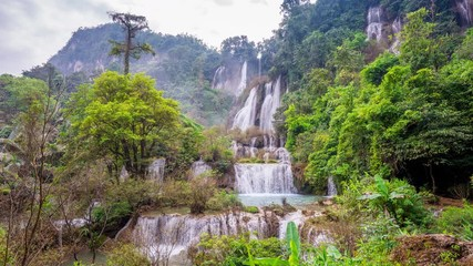 Wall Mural - Time lapse of Thi Lo Su (Tee Lor Su) in Tak province. Thi Lo Su waterfall the largest waterfall in Thailand.