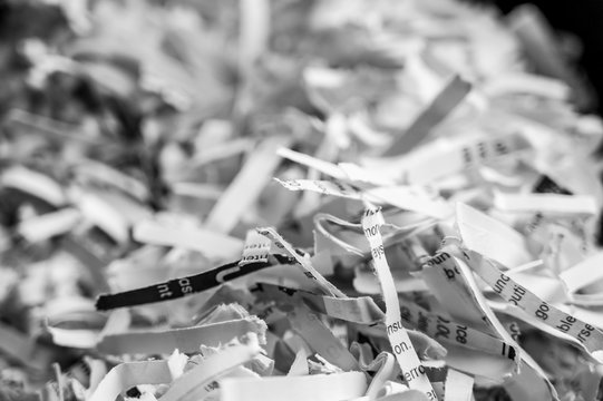 Pile of shredded paper clippings