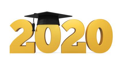 2020 Graduation Cap Isolated
