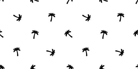 palm tree seamless pattern coconut tree vector island tropical ocean beach summer scarf isolated tile background repeat wallpaper cartoon illustration design