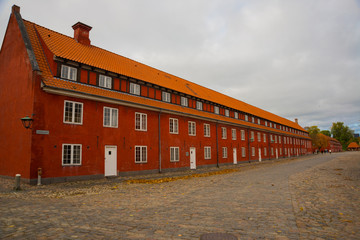 COPENHAGEN, DENMARK: Kastellet fortress, located in Copenhagen, Denmark, one of the best preserved fortresses in Northern Europe