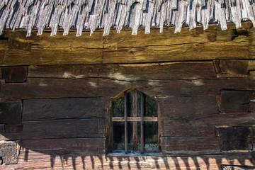 Fototapeta Wooden church monument UNESCO from Barsana (Maramures, Transylvania, Romania)