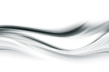 Grey modern shiny background. Flowing waves backdrop.