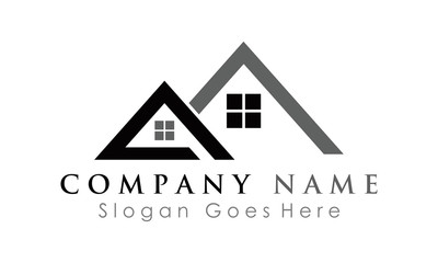 roof home logo vector