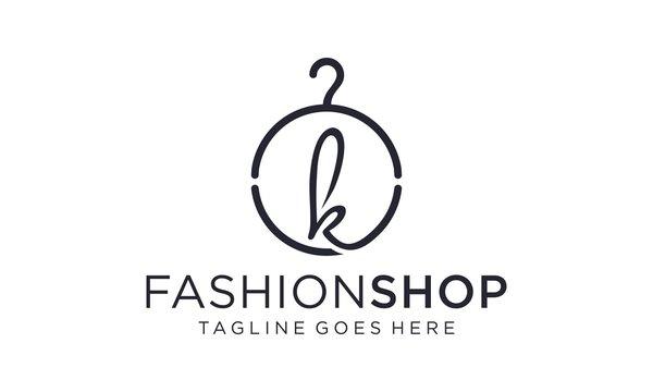 Creative clothes hanger for logo vector editable