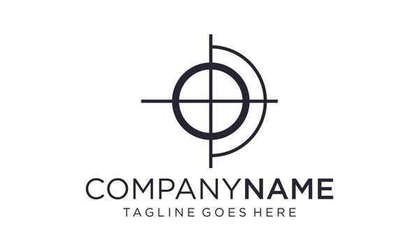 Creative shooting target for the logo design concept