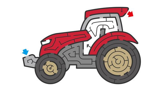 トラクターの迷路