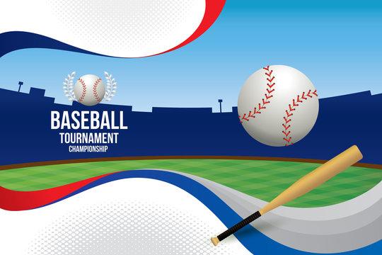 Vector of baseball background.